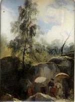 Magnet « Les peintres sur le motif » de Jules Coignet