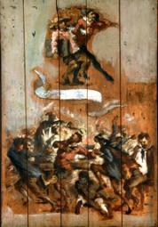 Attribué à Jean-Baptiste Carpeaux, La Danse autour du punch.