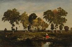 La Mare, intitulé aussi Lisière de forêt ou Lisière de bois dans le Berry Huile sur toile.