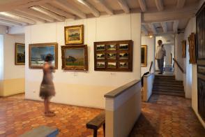 Collection de peinture au 1er étage.