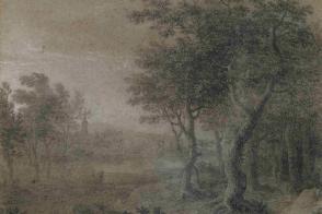Simon-Mathurin Lantara, Un fleuve entre un village et une forêt.