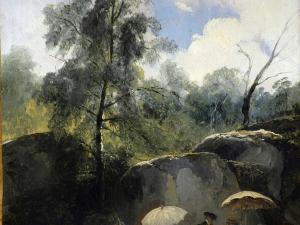 Les Peintres sur le motif dans la forêt de Fontainebleau