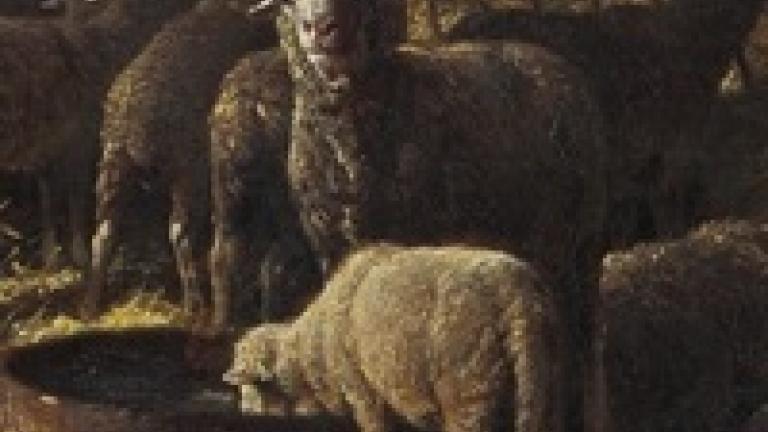 Détail d'Intérieur de bergerie, Charles Jacque.