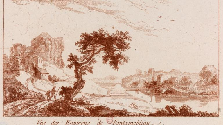 Vue des environs de Fontainebleau.